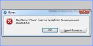 iPhone Fehler 53