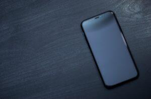 iPhone schwarzer Display