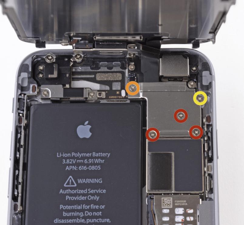 iPhone long screw Schaden