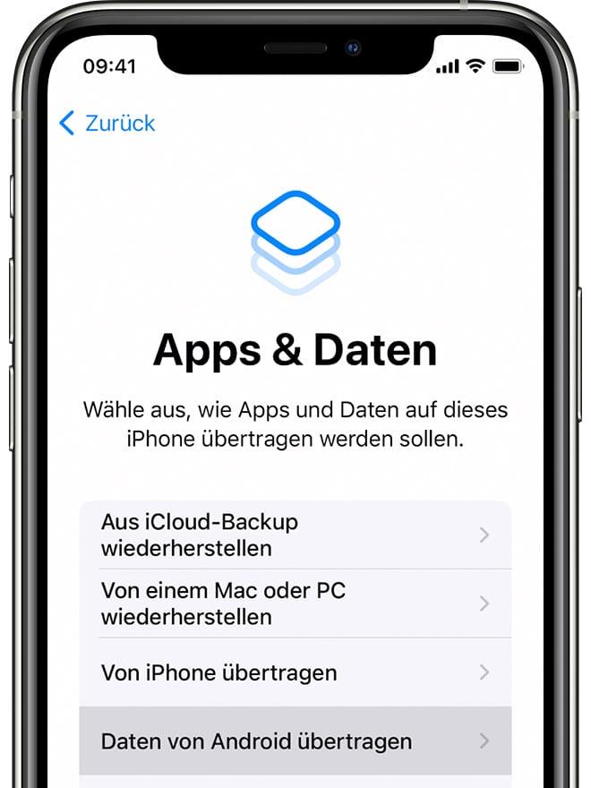 Apps & Daten Screenshot