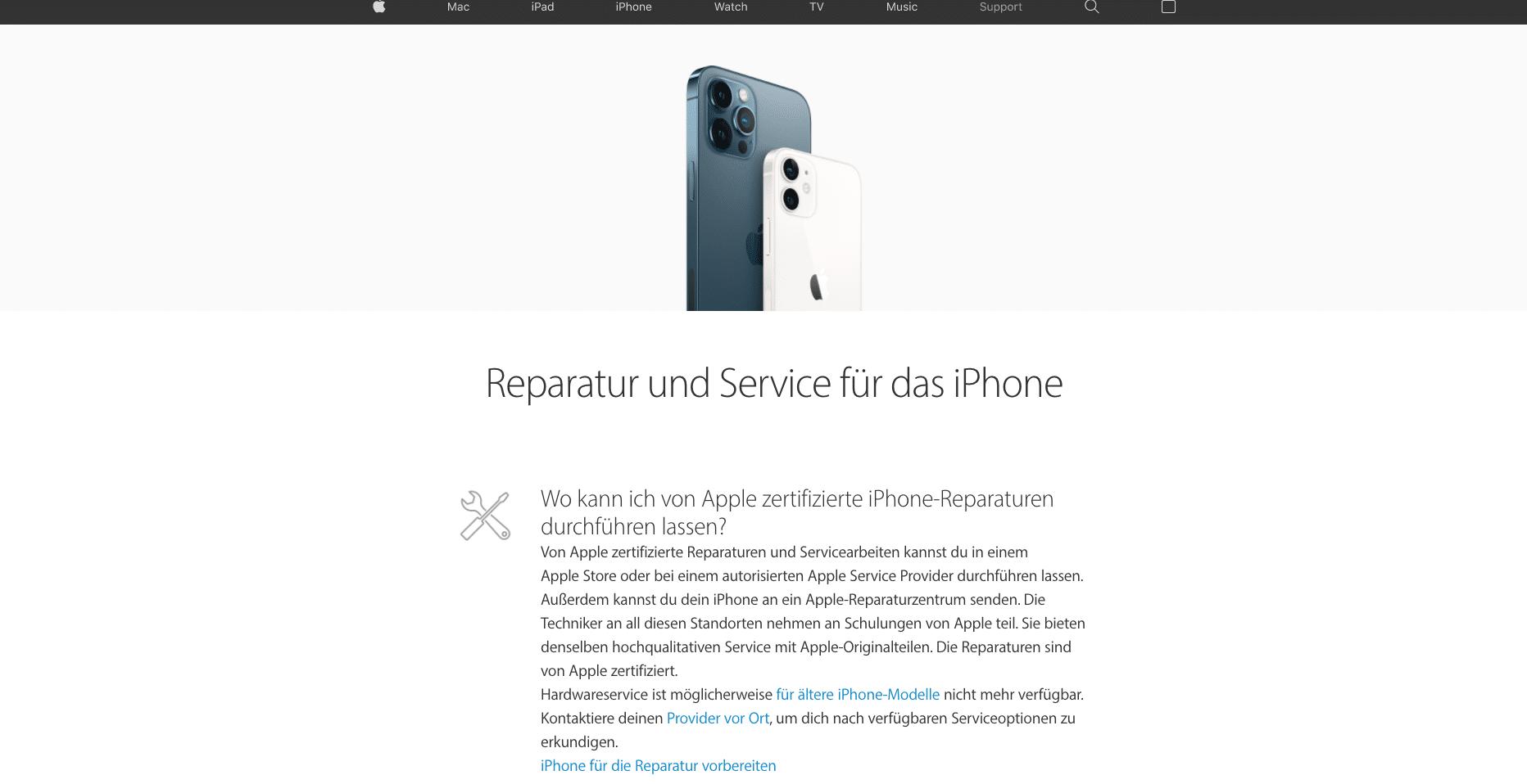 zertifizierter iPhone Service
