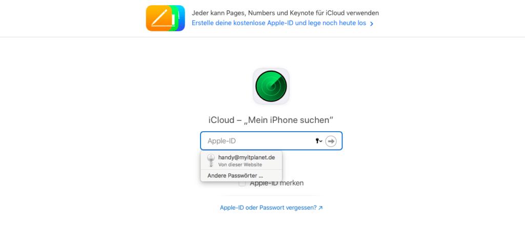 iCloud von Apple