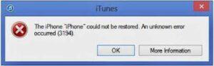 iPhone Fehler 3194